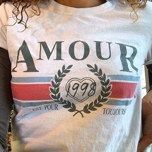 topshop creme amour tee shirt